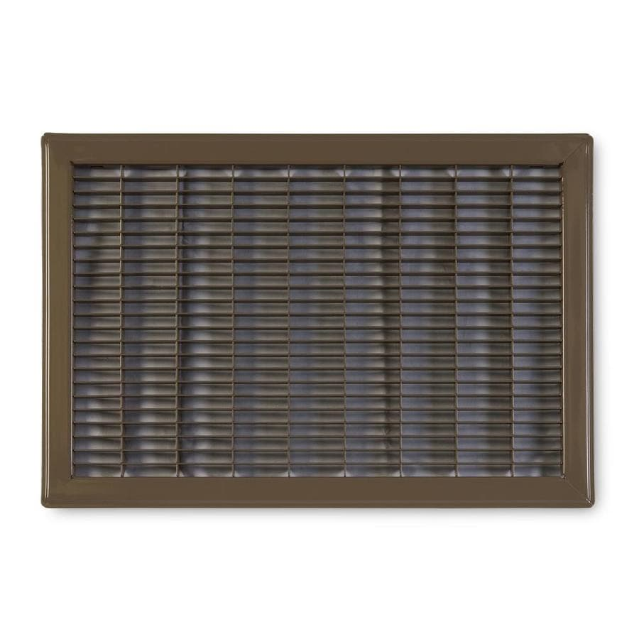 Accord Ventilation 120 Series Brown Steel Louvered Floor Grilles (Rough Opening: 12-in x 14-in; Actual: 13.73-in x 15.73-in)