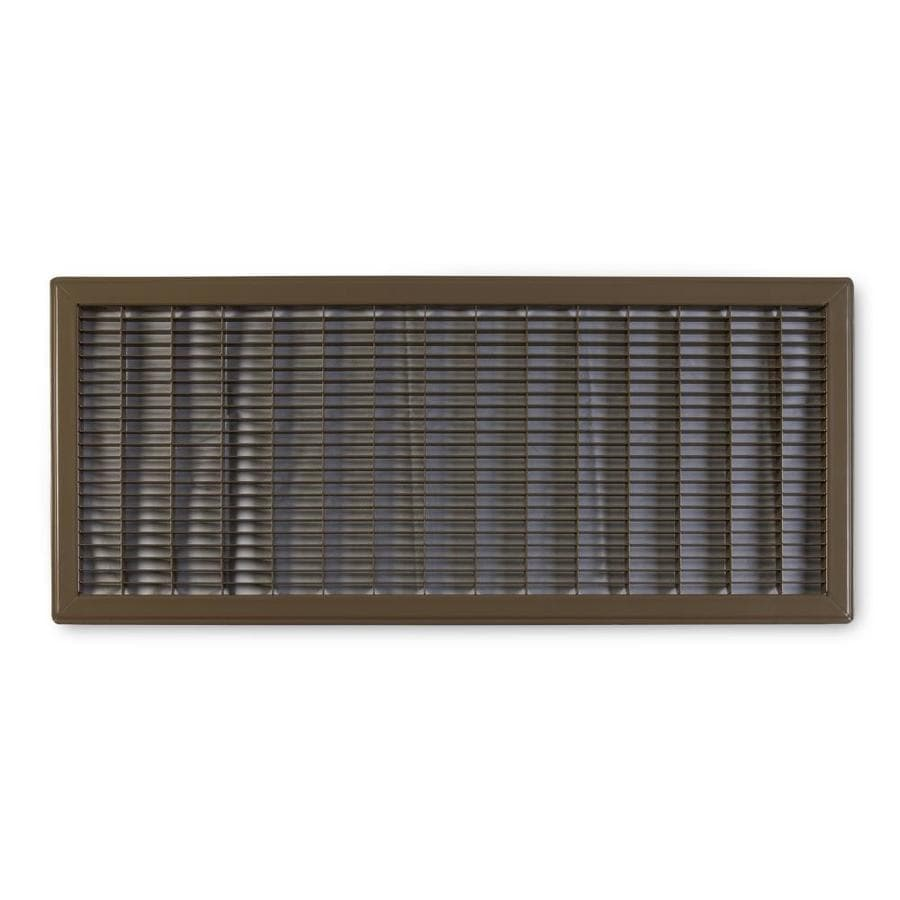 Accord Ventilation 120 Series Brown Steel Louvered Floor Grilles (Rough Opening: 12-in x 24-in; Actual: 13.73-in x 25.73-in)