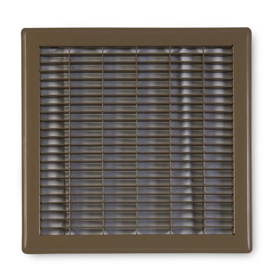 Accord Ventilation 120 Series Brown Steel Louvered Floor Grilles (Rough Opening: 14-in x 14-in; Actual: 15.73-in x 15.73-in)