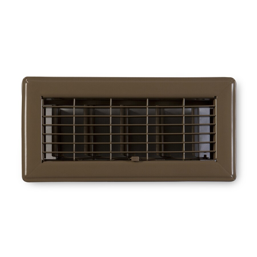 Accord Ventilation 115 Series Brown Steel Floor Register (Rough Opening: 8-in x 4-in; Actual: 9.73-in x 5.73-in)