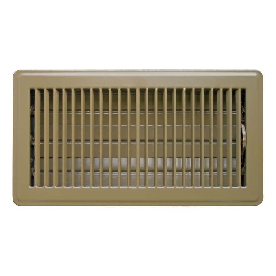 Shop Accord Ventilation Brown Steel Floor Register Duct
