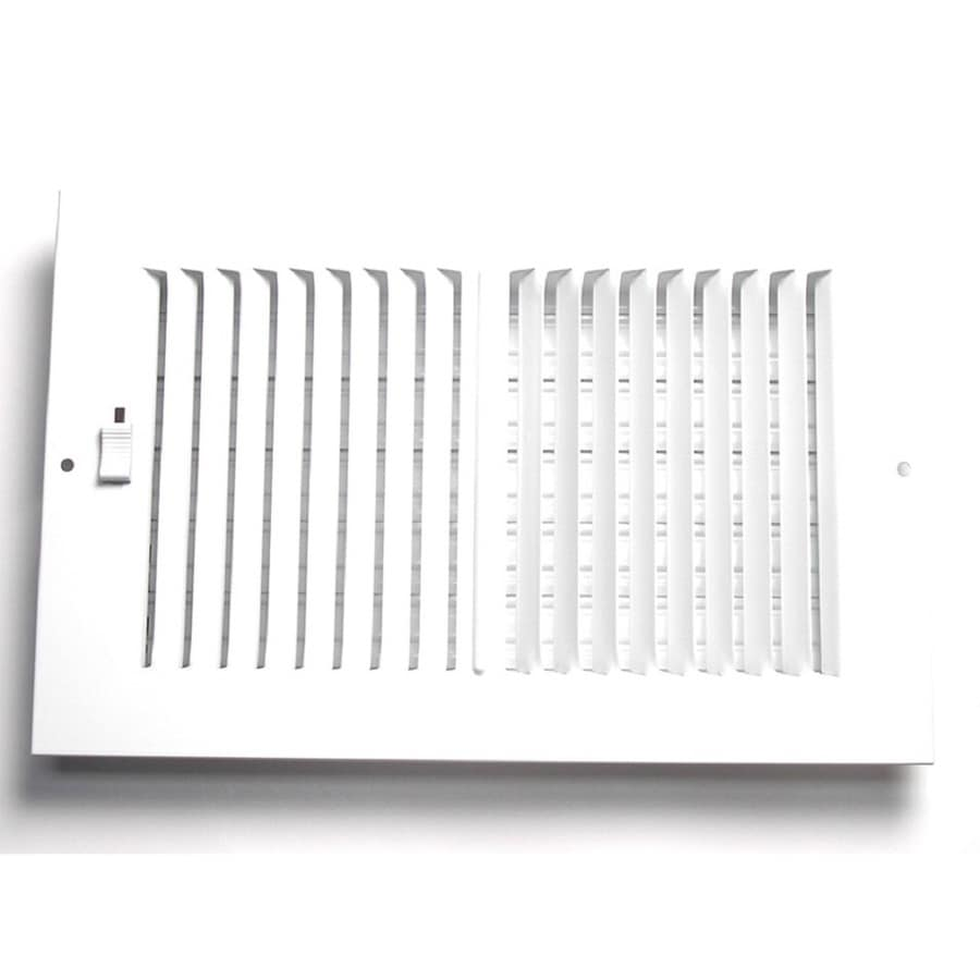 Accord Ventilation 202 Series Painted Steel Sidewall/Ceiling Register (Rough Opening: 4-in x 6-in; Actual: 7.75-in x 5.75-in)