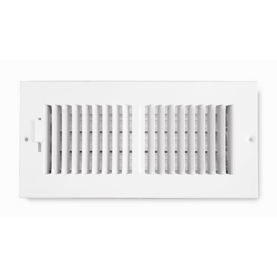 Accord Ventilation 202 Painted Steel Sidewall/Ceiling Register (Rough Opening: 12-in x 8-in; Actual: 13.75-in x 9.75-in)