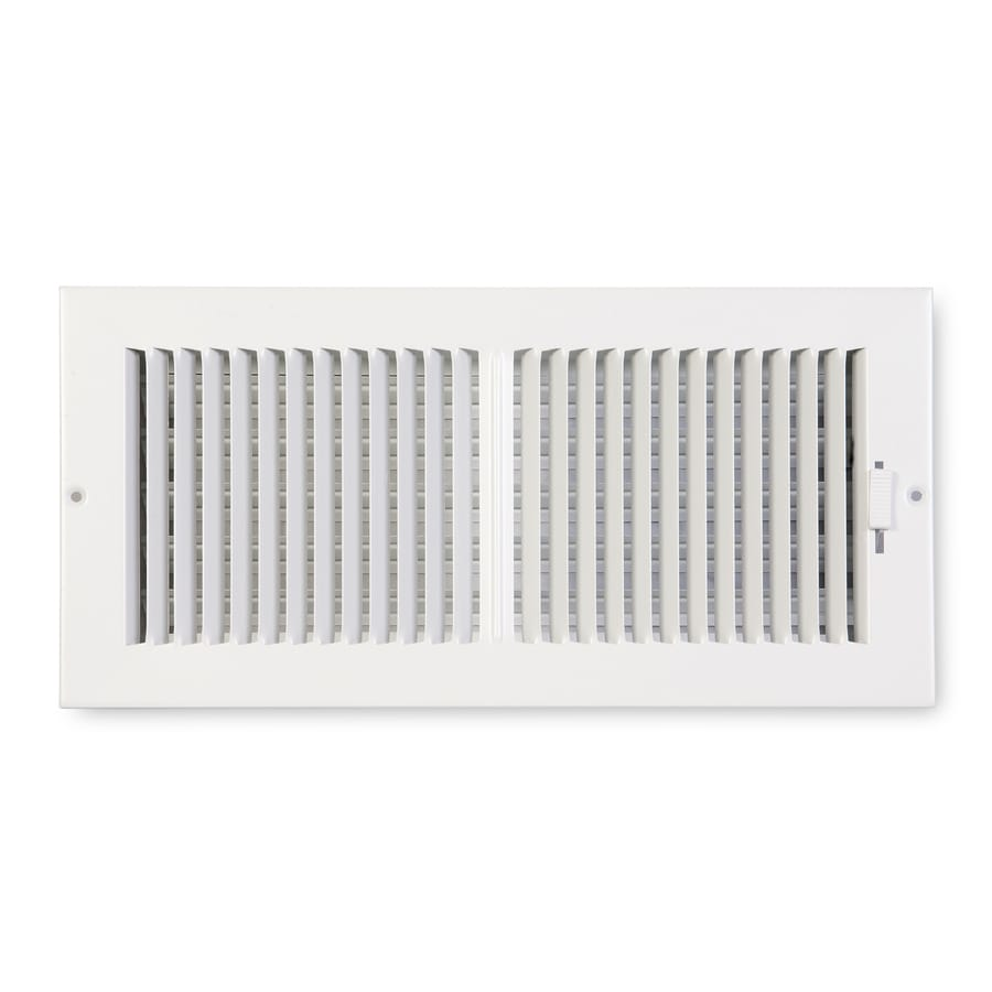 Accord Ventilation 202 Series White Steel Sidewall/Ceiling Register (Rough Opening: 6-in x 14-in; Actual: 15.75-in x 7.75-in)