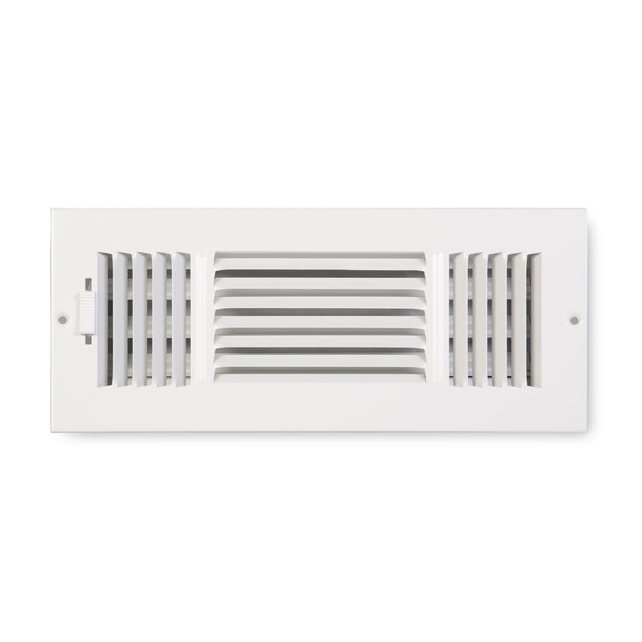 Accord Ventilation 203 Series Painted Steel Sidewall/Ceiling Register (Rough Opening: 4-in x 12-in; Actual: 5.75-in x 13.75-in)