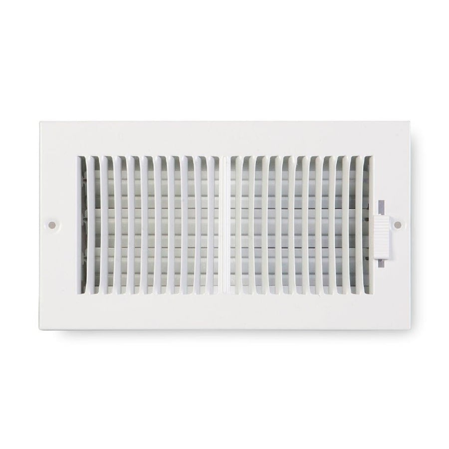 Accord Ventilation 222 Series Painted Steel Sidewall/Ceiling Register (Rough Opening: 6.0-in x 8.0-in; Actual: 7.25-in x 9.25-in)