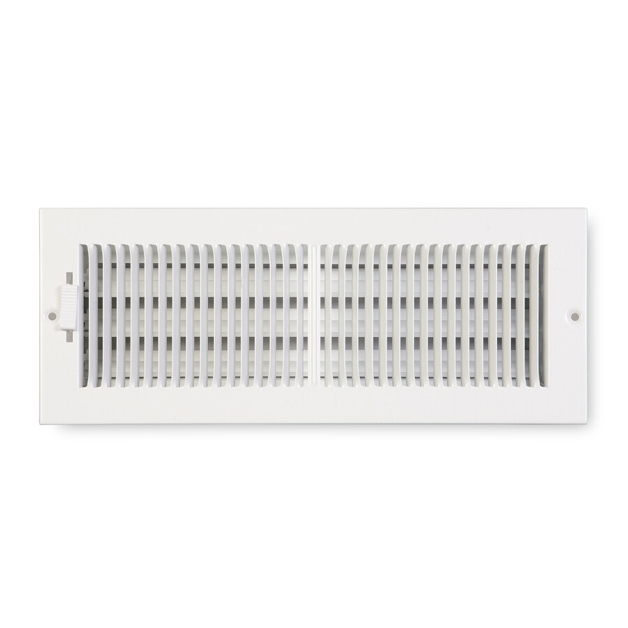 Accord Ventilation 222 Series White Steel Sidewall/Ceiling Register (Rough Opening: 4-in x 10-in; Actual: 11.25-in x 5.25-in)