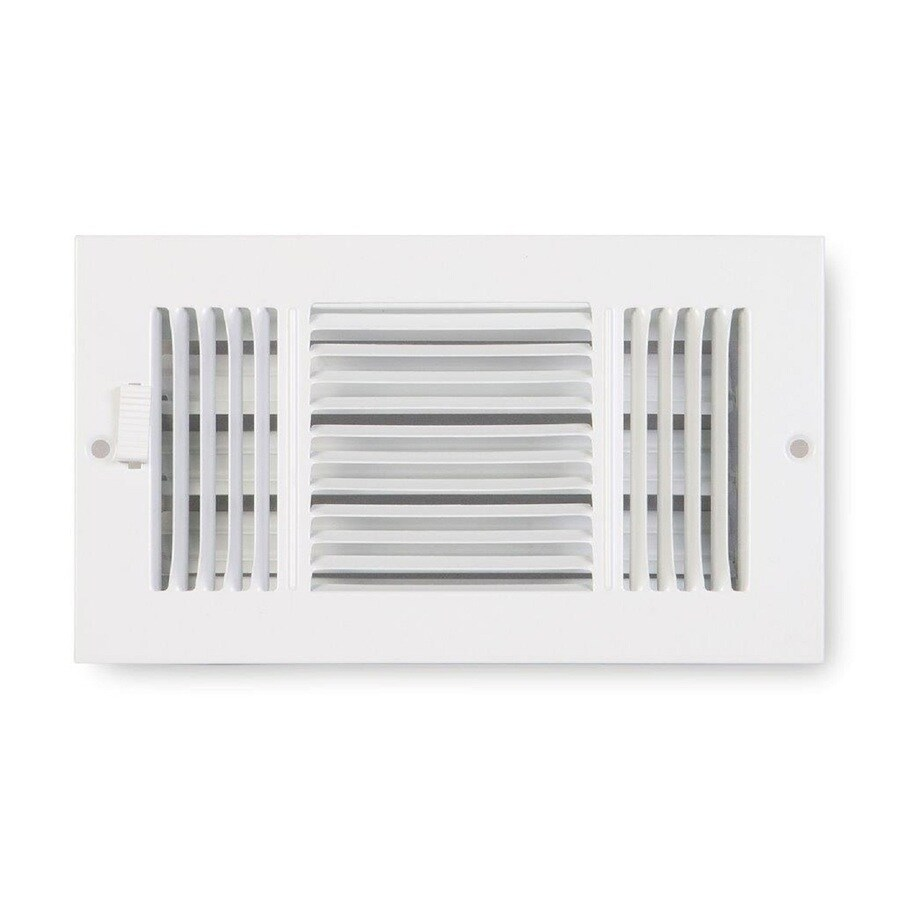 Accord Ventilation 223 Series Painted Steel Sidewall/Ceiling Register (Rough Opening: 6.0-in x 10.0-in; Actual: 7.25-in x 11.25-in)