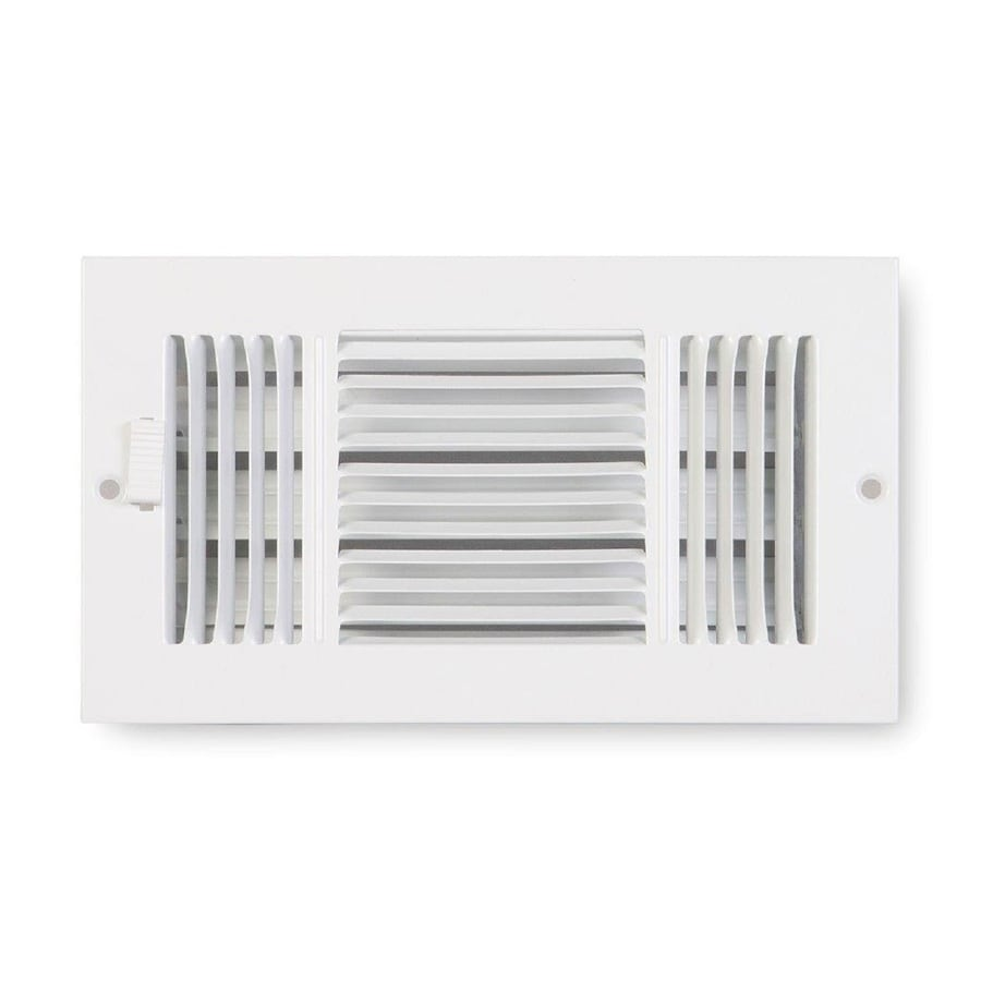 Accord Ventilation 223 Series Painted Steel Sidewall/Ceiling Register (Rough Opening: 6.0-in x 12.0-in; Actual: 7.25-in x 13.25-in)