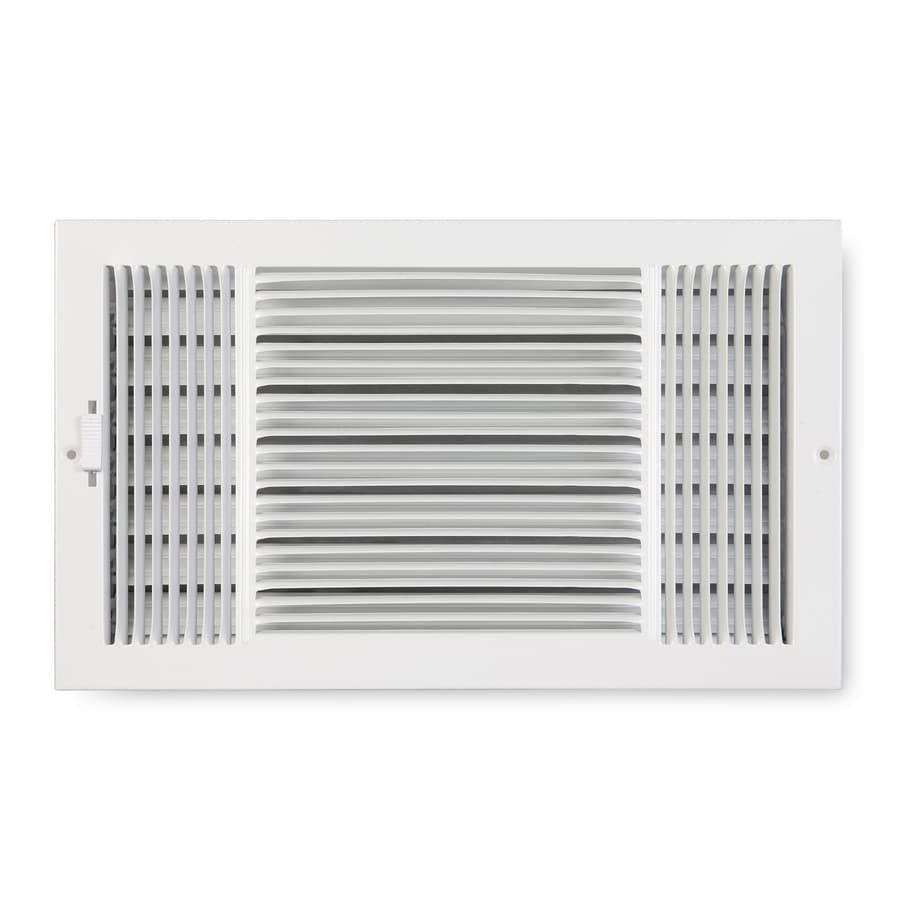 Accord Ventilation 223 Series White Steel Sidewall/Ceiling Register (Rough Opening: 6-in x 14-in; Actual: 15.25-in x 7.25-in)