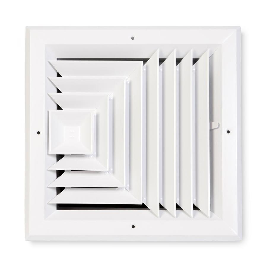 Accord Ventilation 483 White Aluminum Ceiling Diffuser (Rough Opening: 6-in x 6-in; Actual: 9-in x 9-in)