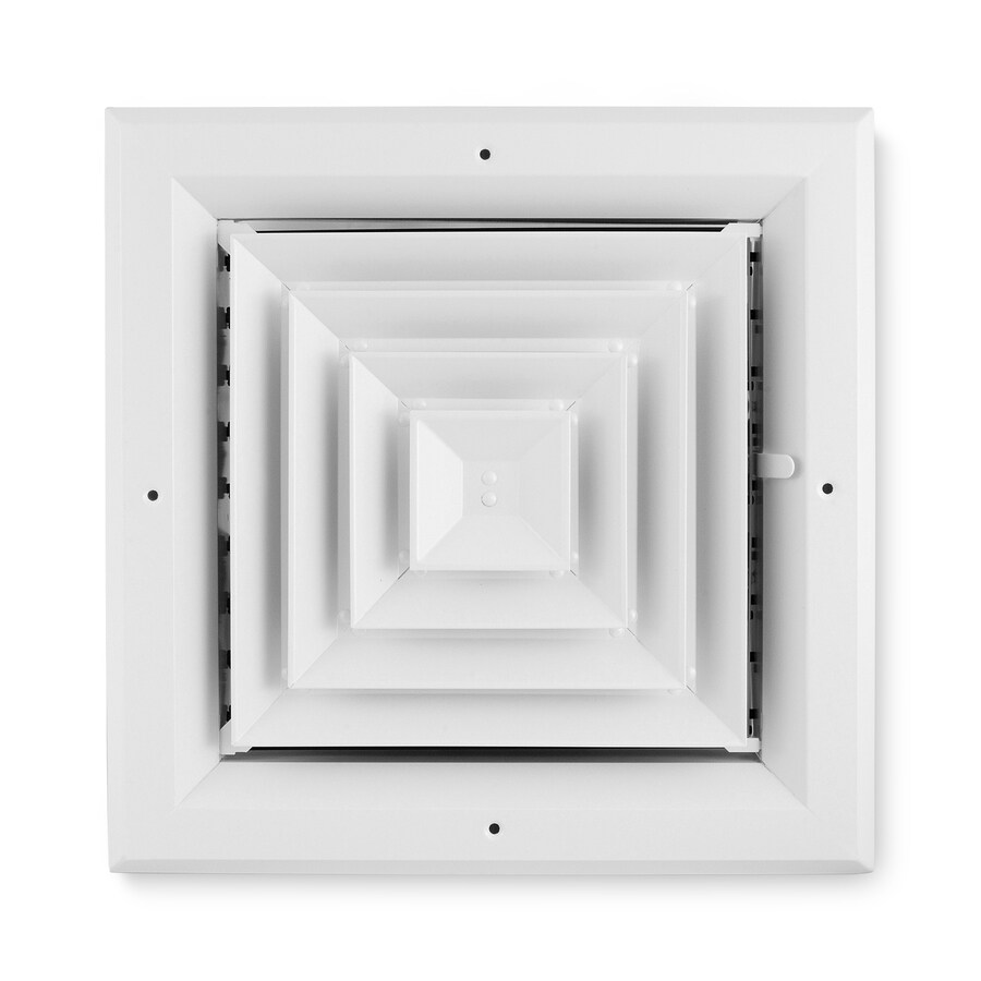 Accord Ventilation 484 White Aluminum Ceiling Diffuser (Rough Opening: 12-in x 12-in; Actual: 15-in x 15-in)