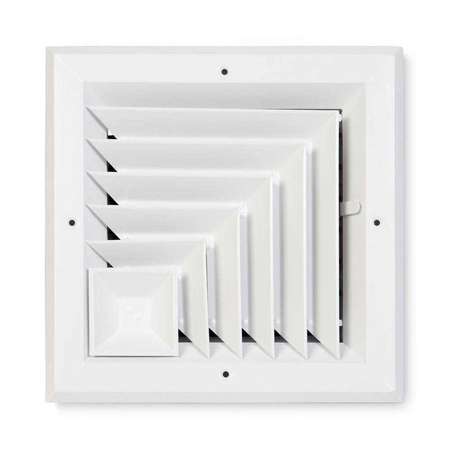 Accord Ventilation 485 Series White Aluminum Ceiling Diffuser (Rough Opening: 8-in x 8-in; Actual: 11-in x 11-in)