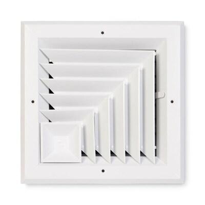 Accord Ventilation White Aluminum Ceiling Diffuser (Rough