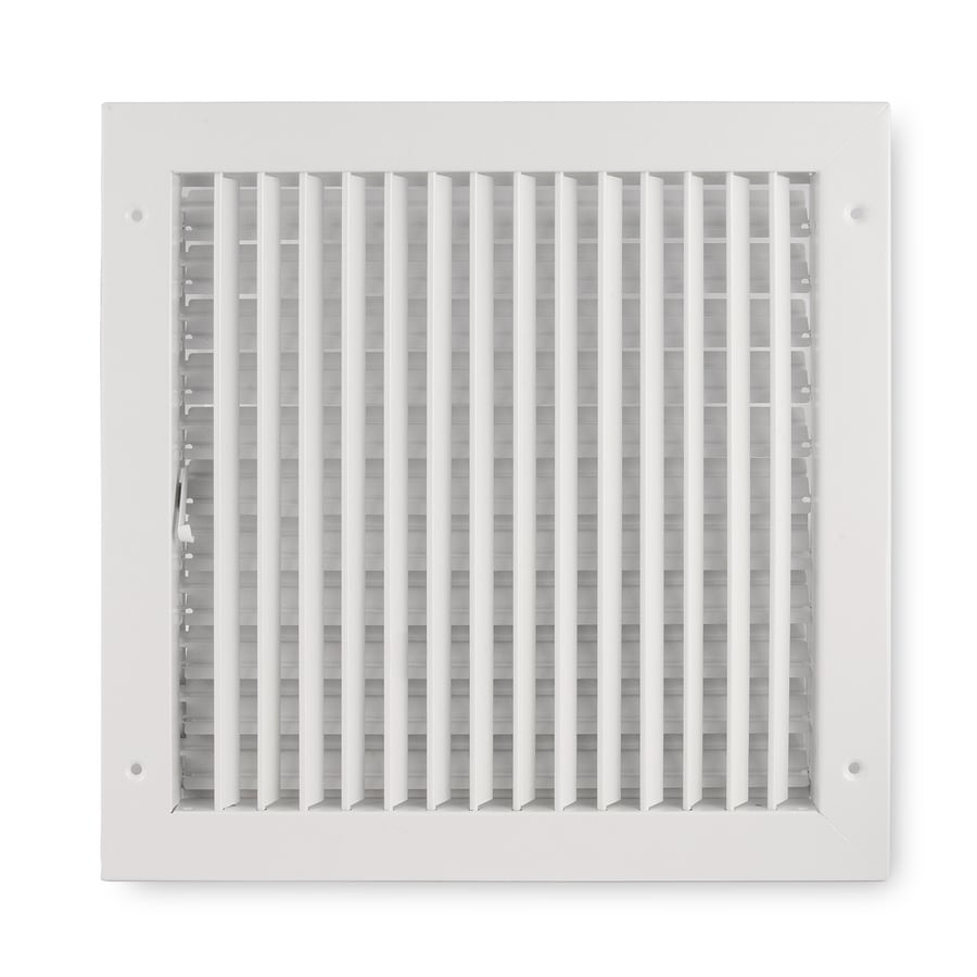 Accord Ventilation 411 Painted Steel Sidewall/Ceiling Register (Rough Opening: 12-in x 12-in; Actual: 13.88-in x 13.88-in)