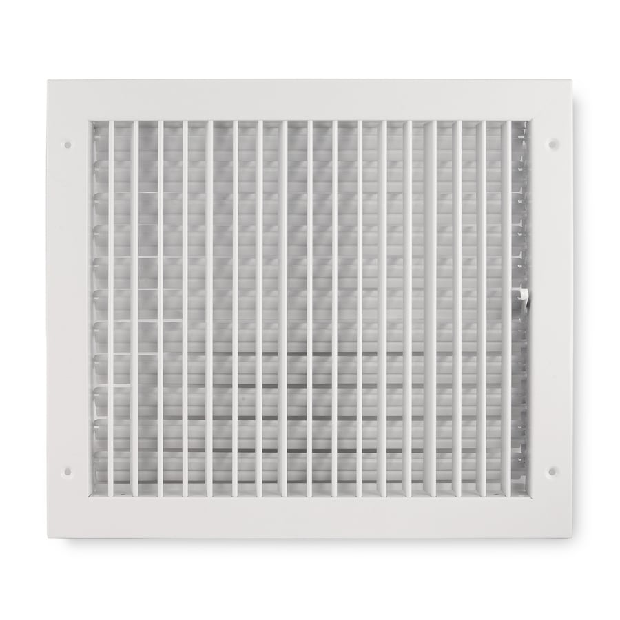 Accord Ventilation 411 Series White Steel Sidewall/Ceiling Register (Rough Opening: 10-in x 14-in; Actual: 15.84-in x 11.88-in)