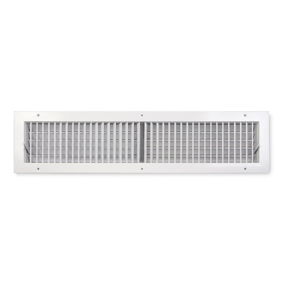 Accord Ventilation 411 Series Painted Steel Sidewall/Ceiling Register (Rough Opening: 6-in x 24-in; Actual: 7.88-in x 25.84-in)