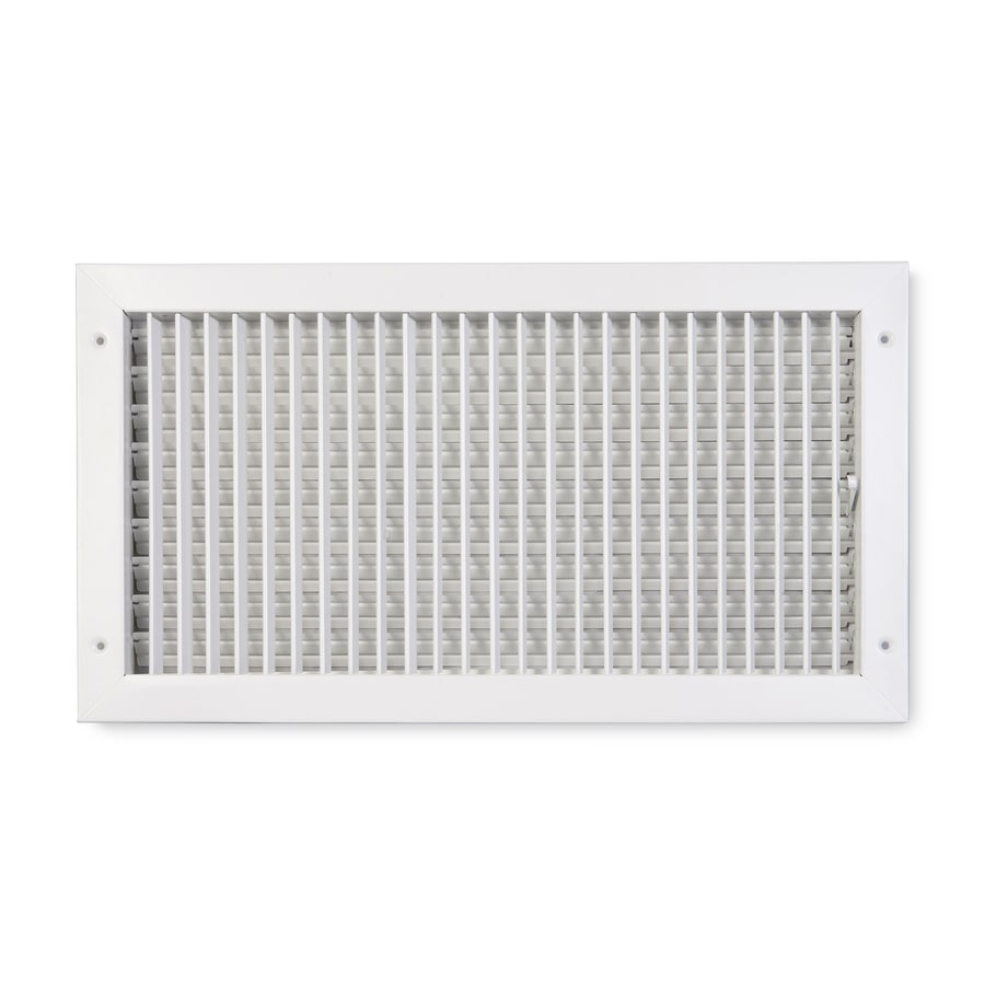 Accord Ventilation 411 Painted Steel Sidewall/Ceiling Register (Rough Opening: 24-in x 8-in; Actual: 25.84-in x 9.88-in)