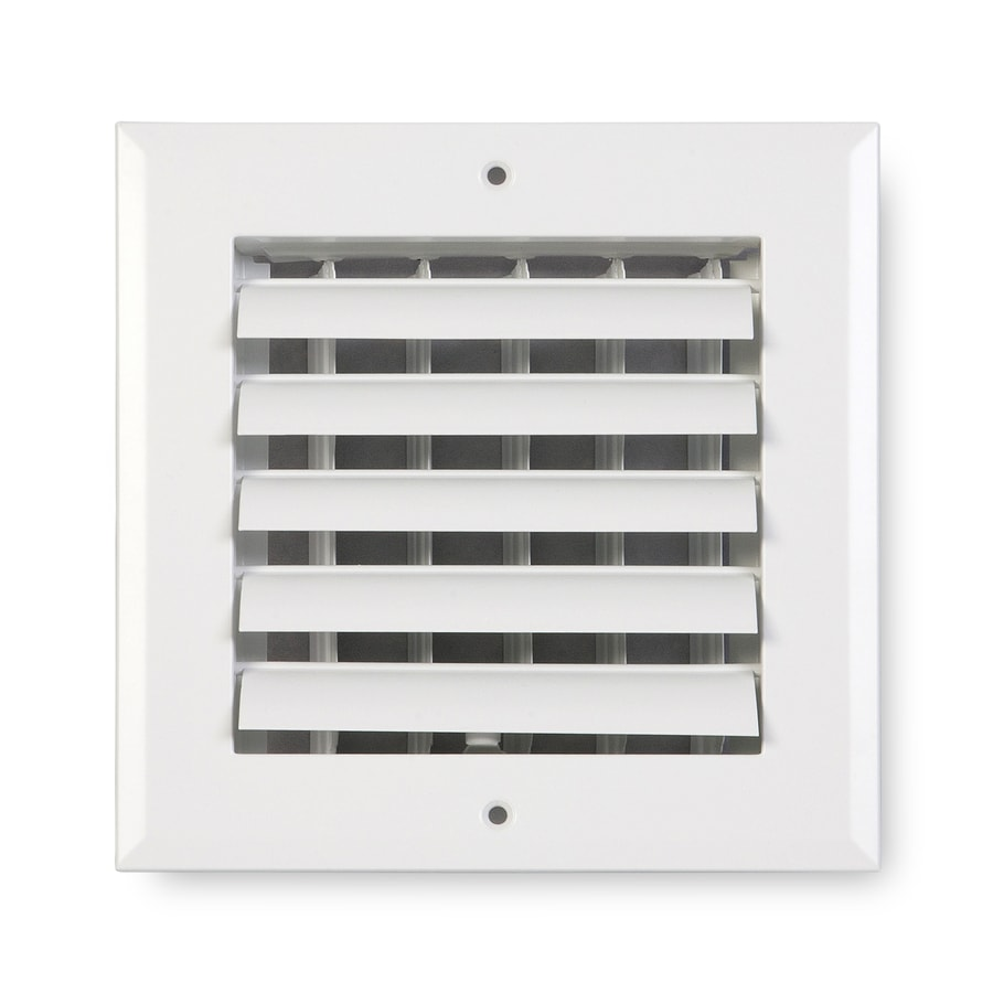 Accord Ventilation 281 Series Painted Aluminum Sidewall/Ceiling Register (Rough Opening: 6-in x 6-in; Actual: 7.75-in x 7.75-in)