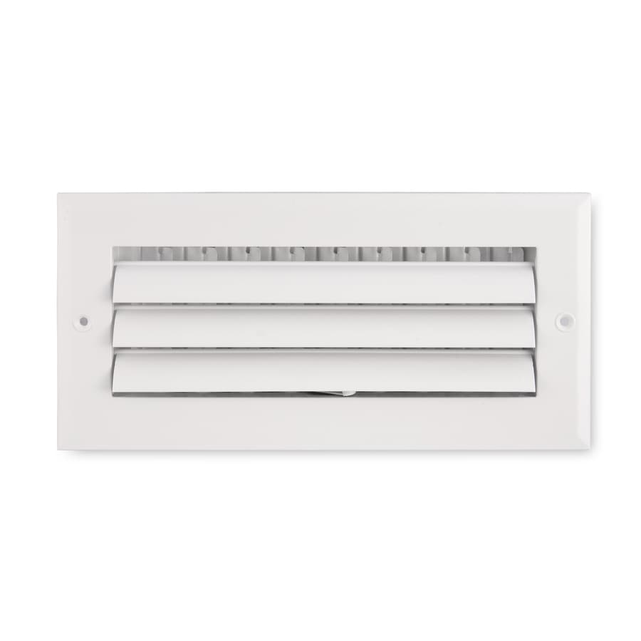 Accord Ventilation 281 Series White Aluminum Sidewall/Ceiling Register (Rough Opening: 6-in x 10-in; Actual: 11.75-in x 7.75-in)