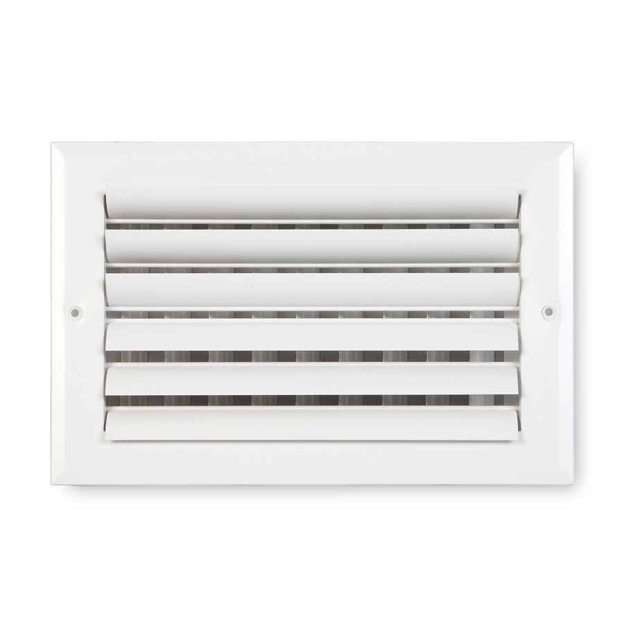Accord Ventilation 281 Painted Aluminum Sidewall/Ceiling Register (Rough Opening: 14-in x 6-in; Actual: 15.75-in x 7.75-in)