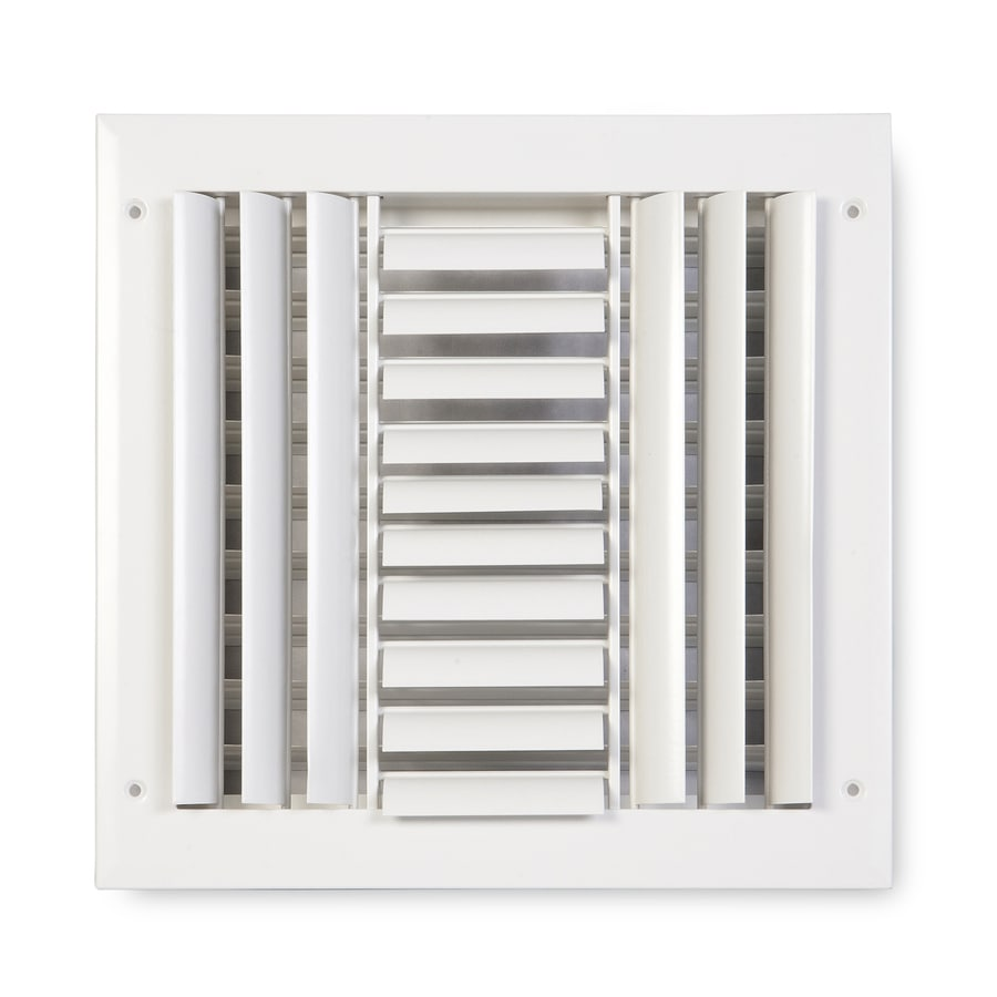 Accord Ventilation 283 Painted Aluminum Sidewall/Ceiling Register (Rough Opening: 12-in x 12-in; Actual: 13.75-in x 13.75-in)