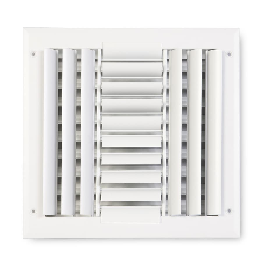 Accord Ventilation 284 Series Painted Aluminum Sidewall/Ceiling Register (Rough Opening: 8-in x 8-in; Actual: 9.75-in x 9.75-in)