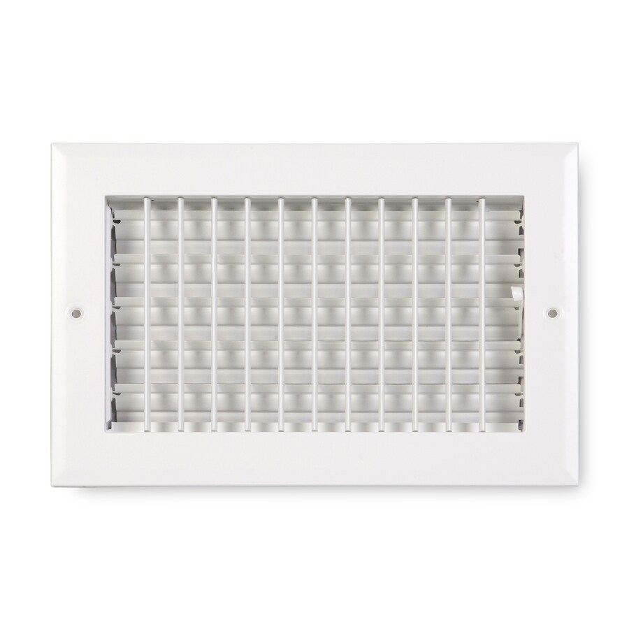 Accord Ventilation 270 Painted Aluminum Sidewall/Ceiling Register (Rough Opening: 10-in x 4-in; Actual: 11.75-in x 5.75-in)
