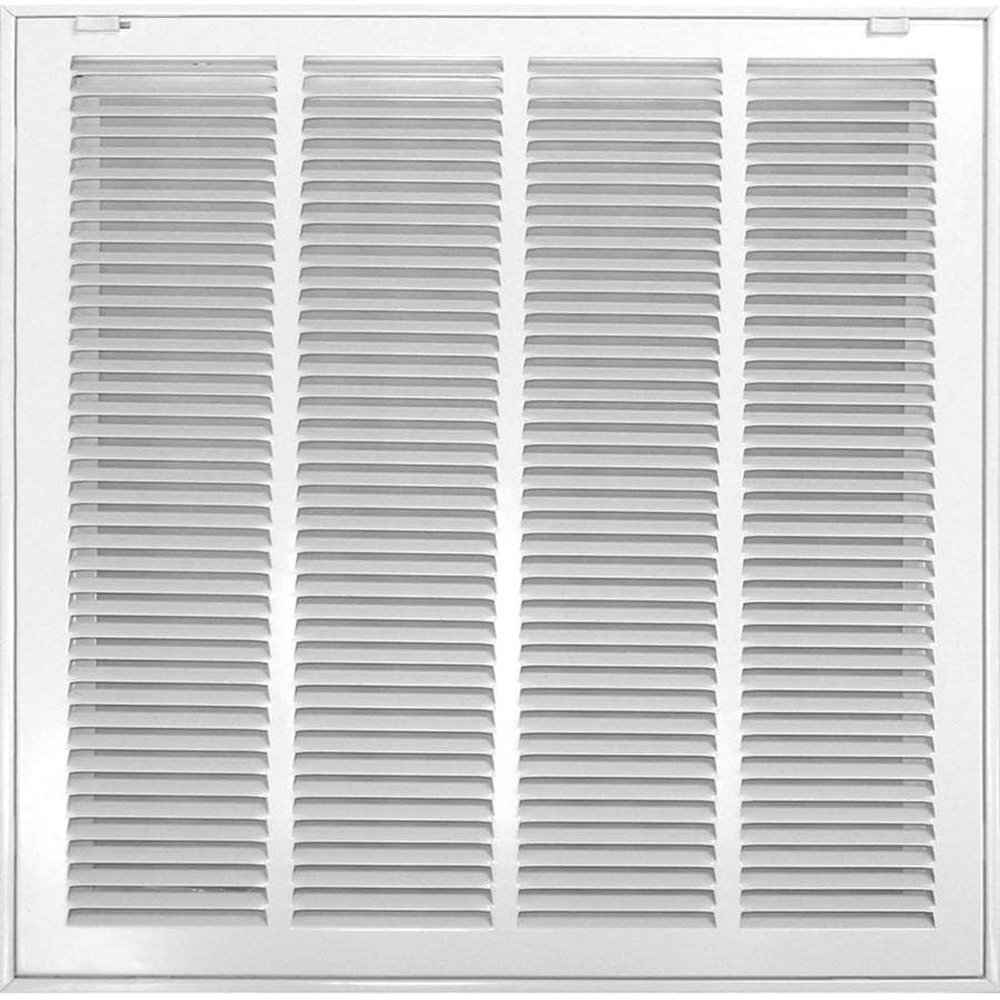 Accord Ventilation 520 Series White Steel Louvered Sidewall/Ceiling Grilles (Rough Opening: 10-in x 10-in; Actual: 12.57-in x 12.57-in)