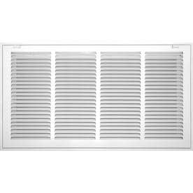 c84cb60d238 Accord Ventilation White Steel Louvered Sidewall Ceiling Grilles (Rough  Opening  18-in