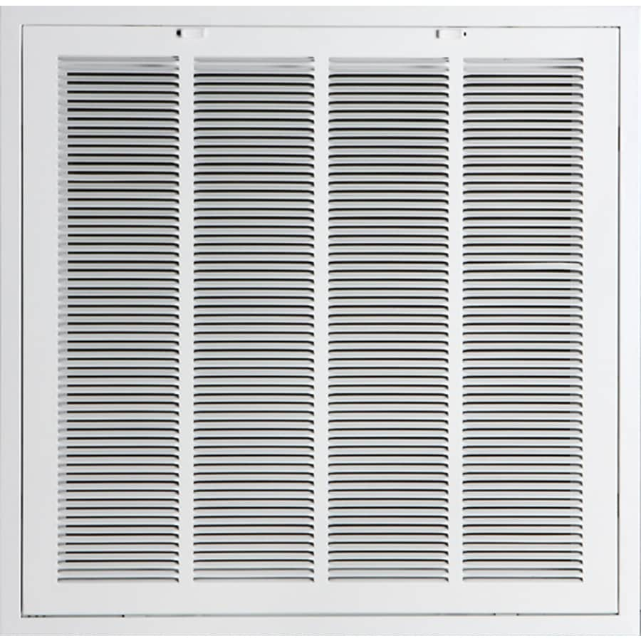 Accord Ventilation 923R6 White Steel Lanced Sidewall/Ceiling Grilles (Rough Opening: 24-in x 24-in; Actual: 24-in x 24-in)