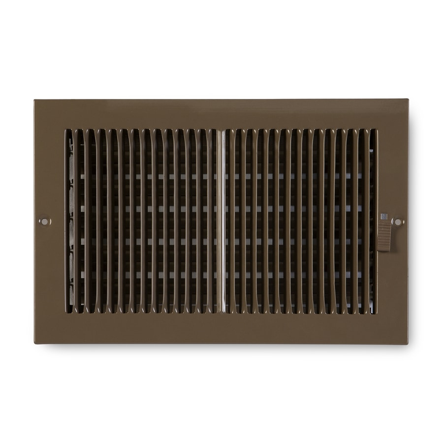 Accord Ventilation 222 Series Painted Steel Sidewall/Ceiling Register (Rough Opening: 6-in x 10-in; Actual: 7.25-in x 11.25-in)