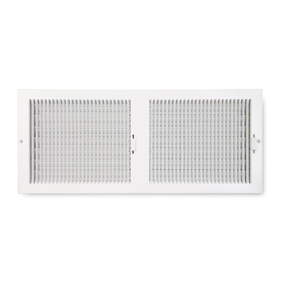 Accord Ventilation 222 Painted Steel Sidewall/Ceiling Register (Rough Opening: 16-in x 8-in; Actual: 17.25-in x 9.25-in)