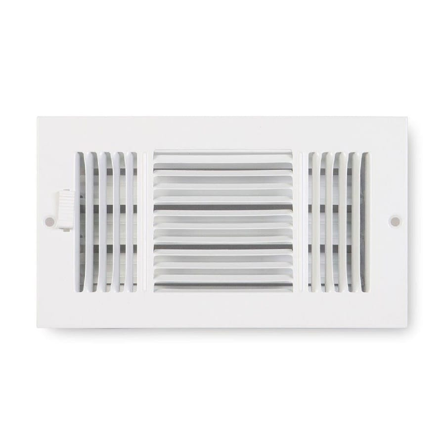 Accord Ventilation 223 Series Painted Steel Sidewall/Ceiling Register (Rough Opening: 4-in x 8-in; Actual: 5.25-in x 9.25-in)