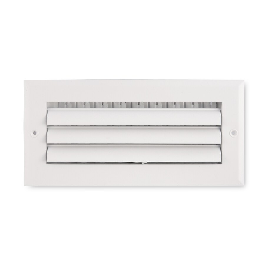Accord Ventilation 281 Series White Aluminum Sidewall/Ceiling Register (Rough Opening: 4-in x 8-in; Actual: 9.75-in x 5.75-in)