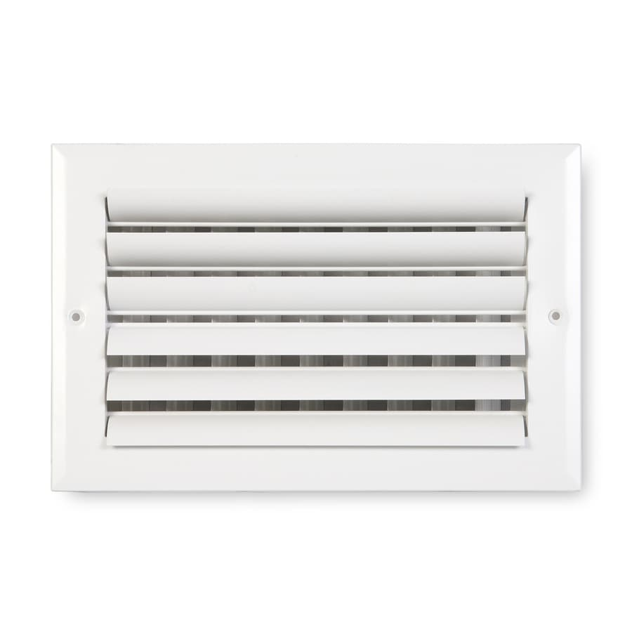 Accord Ventilation 281 Painted Aluminum Sidewall/Ceiling Register (Rough Opening: 12-in x 6-in; Actual: 13.75-in x 7.75-in)