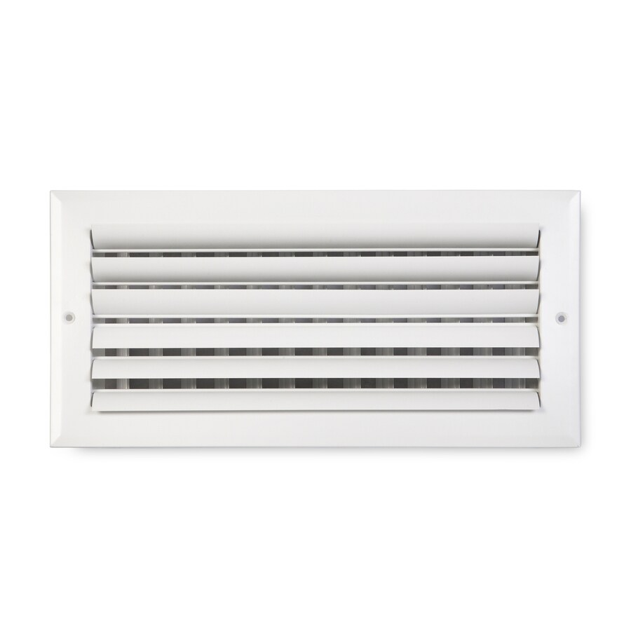 Accord Ventilation 282 Series Painted Aluminum Sidewall/Ceiling Register (Rough Opening: 6.0-in x 12.0-in; Actual: 7.75-in x 13.75-in)
