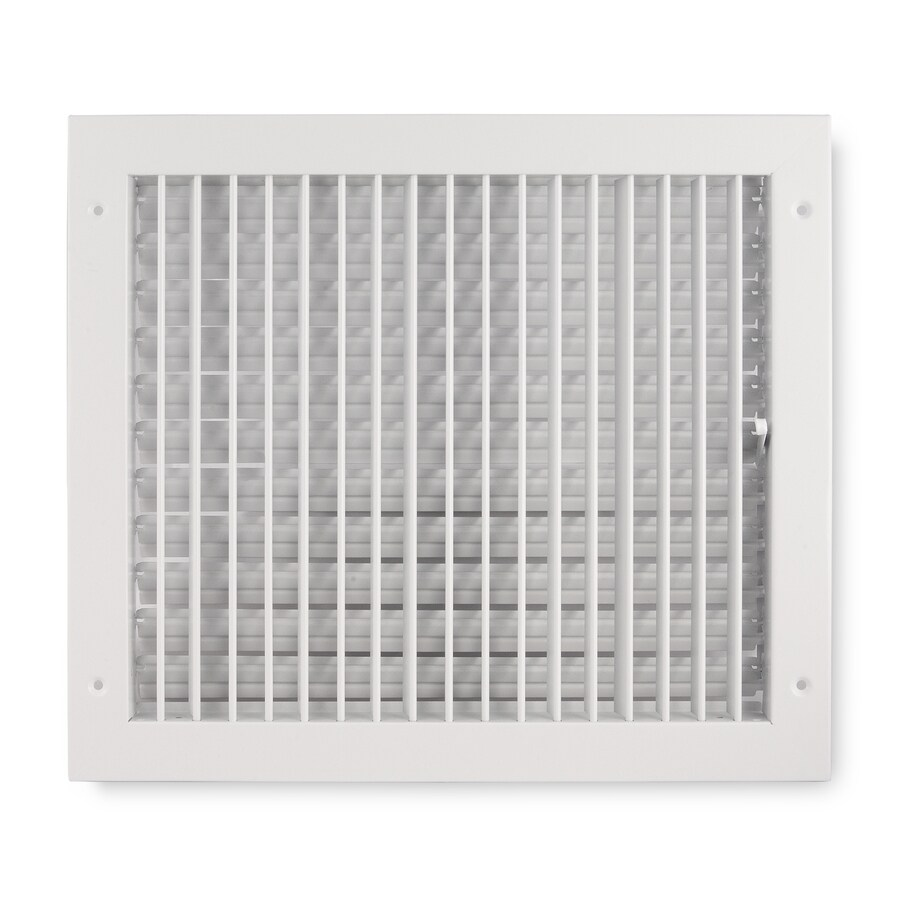 Accord Ventilation 411 Painted Steel Sidewall/Ceiling Register (Rough Opening: 14-in x 12-in; Actual: 15.84-in x 13.88-in)