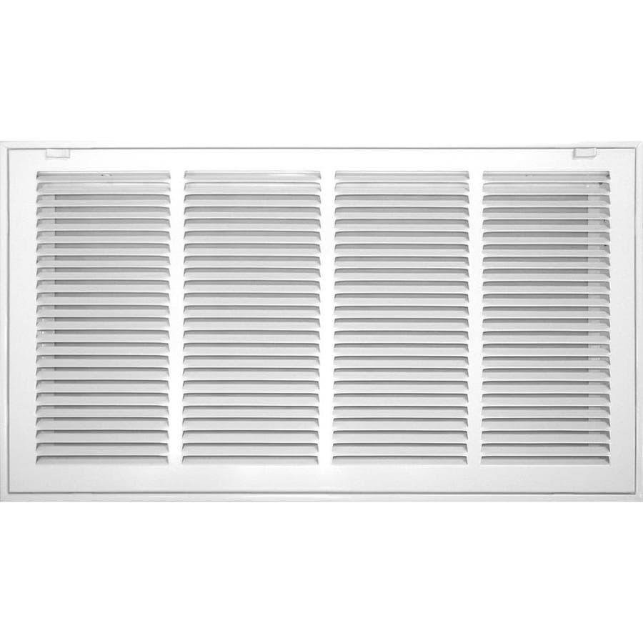 Accord Ventilation 520 Series White Steel Louvered Sidewall/Ceiling Grilles (Rough Opening: 24-in x 6-in; Actual: 26.57-in x 8.57-in)