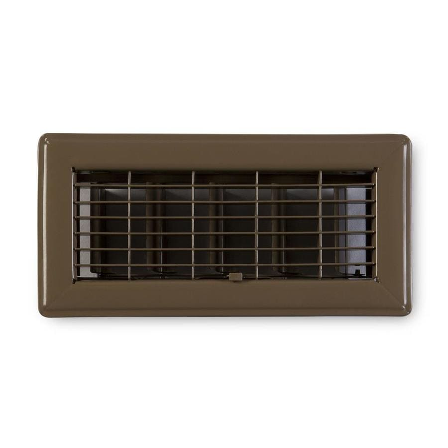 Accord Ventilation 115 Series Brown Steel Floor Register (Rough Opening: 10-in x 4-in; Actual: 11.73-in x 5.73-in)