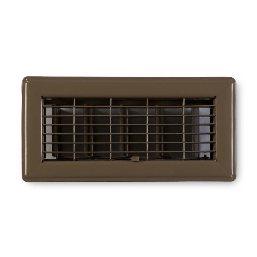 Accord Ventilation 115 Series Painted Steel Floor Register (Rough Opening: 14-in x 4-in; Actual: 15.73-in x 5.73-in)