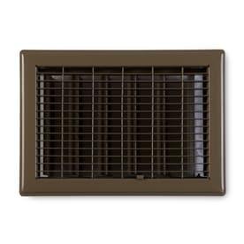 Accord Ventilation Brown Steel Floor Register Duct Opening 12 In X 14