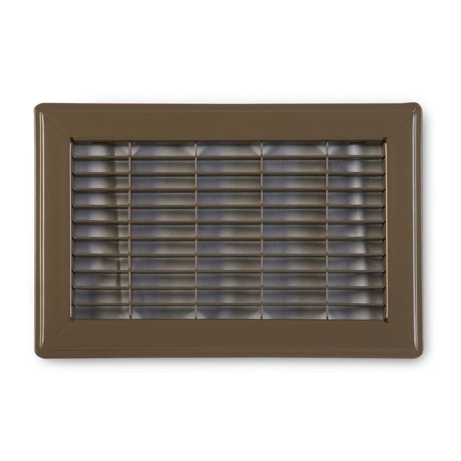 Accord Ventilation 120 Series Brown Steel Louvered Floor Grilles (Rough Opening: 8-in x 16-in; Actual: 9.73-in x 17.73-in)