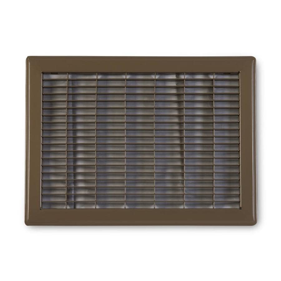 Accord Ventilation 120 Series Brown Steel Louvered Floor Grilles (Rough Opening: 10-in x 14-in; Actual: 11.73-in x 15.73-in)