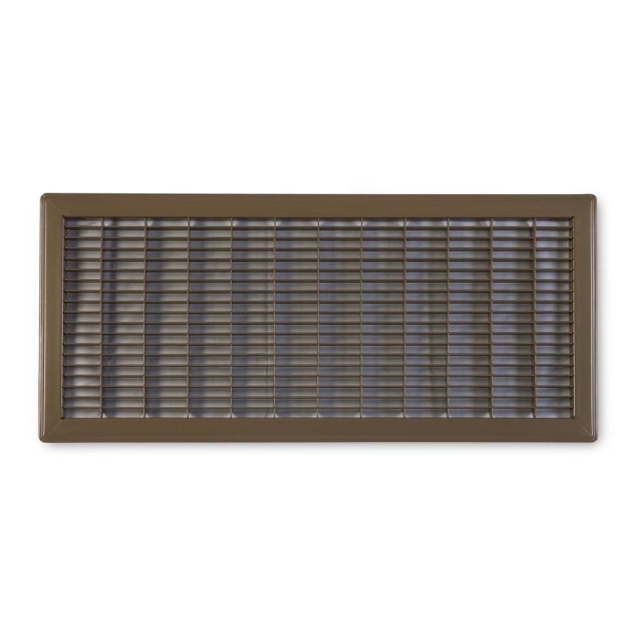 Accord Ventilation 120 Series Brown Steel Louvered Floor Grilles (Rough Opening: 10-in x 24-in; Actual: 11.73-in x 25.73-in)