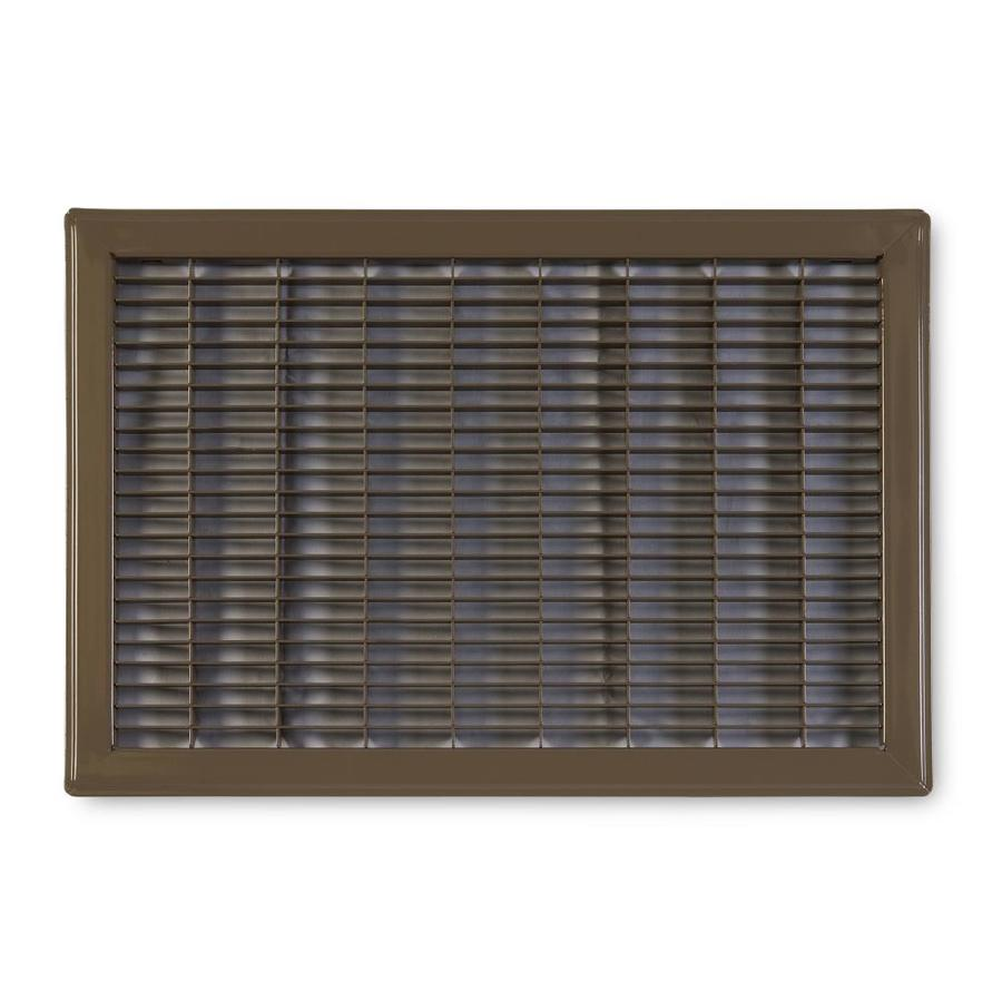 Accord Ventilation 120 Series Brown Steel Louvered Floor Grilles (Rough Opening: 12-in x 16-in; Actual: 13.73-in x 17.73-in)