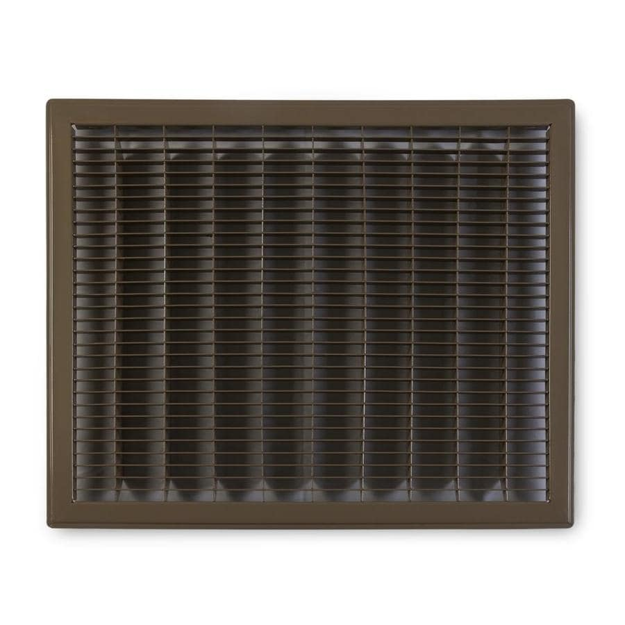 Accord Ventilation 120 Brown Steel Louvered Floor Grilles (Rough Opening: 14-in x 16-in; Actual: 15.73-in x 17.73-in)