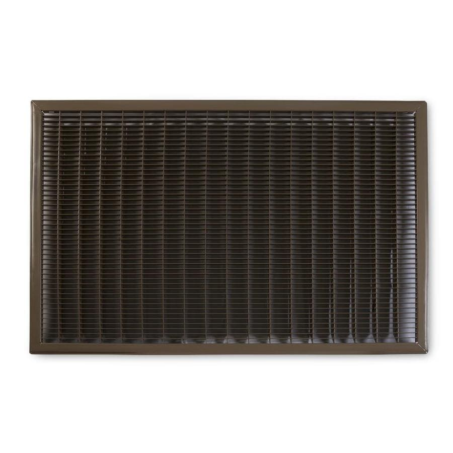 Accord Ventilation 120 Series Brown Steel Louvered Floor Grilles (Rough Opening: 24-in x 30-in; Actual: 25.73-in x 31.73-in)