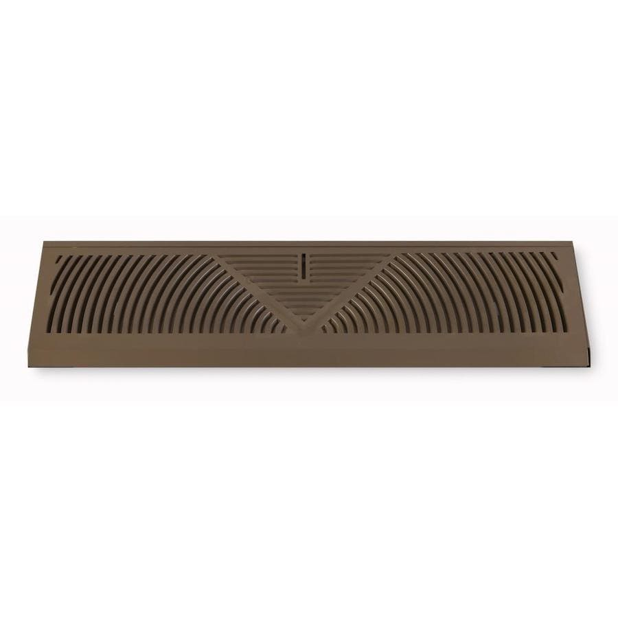 Accord Ventilation 155 Series Brown Steel Louvered Baseboard Grilles (Rough Opening: 4.5-in x 15-in; Actual: 4.5-in x 18-in)