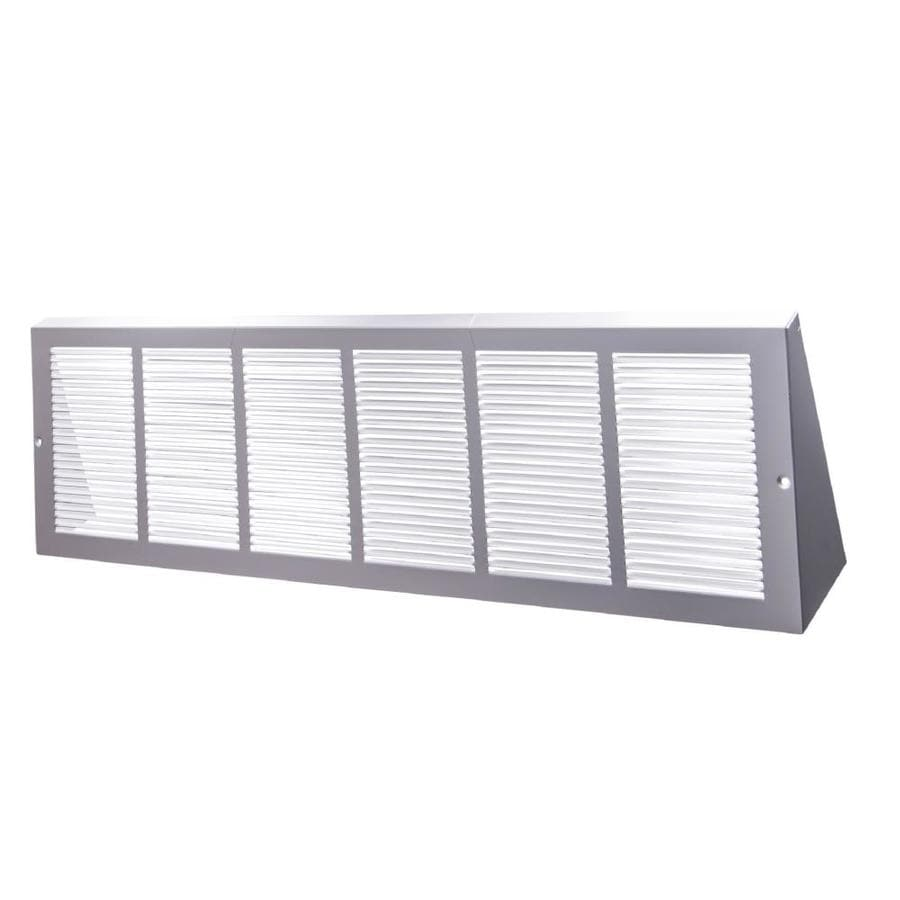 Accord Ventilation 170 Series White Steel Louvered Baseboard Grilles (Rough Opening: 24-in x 6-in; Actual: 25.75-in x 6.62-in)
